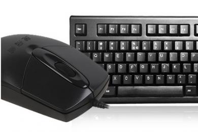 双飞燕KR-8572N 有线键盘鼠标套装 USB办公游戏网吧防水键鼠套件