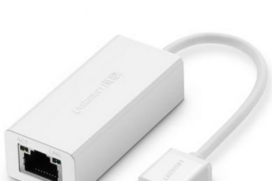 绿联 usb网卡有线台式机小米盒子转rj45苹果笔记本转换器网线接口